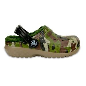 Crocs Fur lined Camouflage Shoes..toddler size 6
